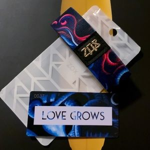 ZOX Strap Wristband & Card - Love Grows  * GOLD *